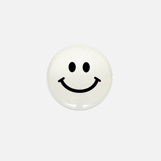 Smiley face Mini Button