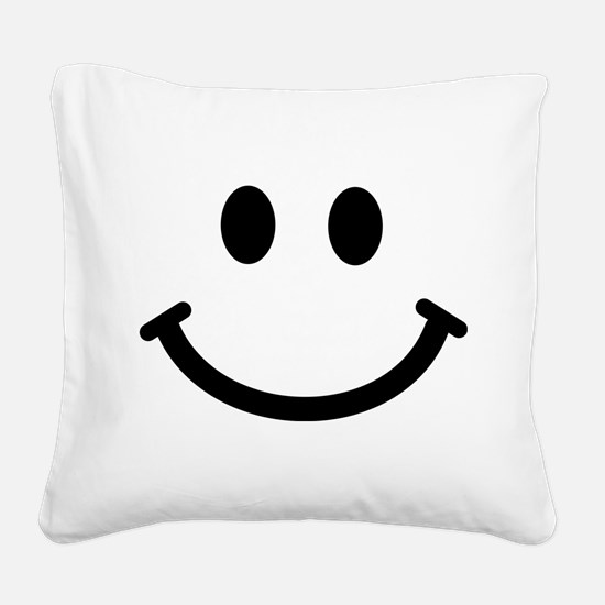 Smiley face Square Canvas Pillow