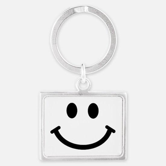Smiley face Landscape Keychain