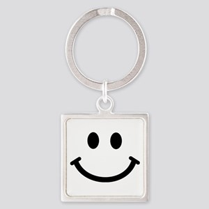 Smiley face Square Keychain