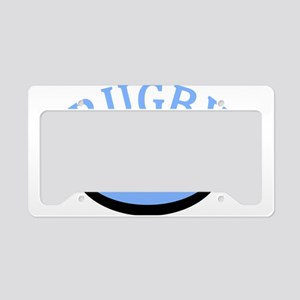 Proud Rugby Mom Light Blue License Plate Holder