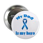 Dad is my hero (blue ribbon) 2.25