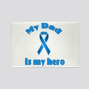 Dad is my hero (blue ribbon) Rectangle Magnet