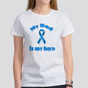 Dad is my hero (blue ribbon) Women's T-Shirt