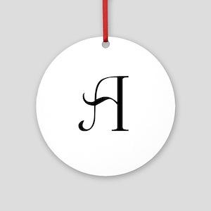 Anglican Monogram A Ornament (Round)