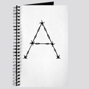 Barbed Wire Monogram A Journal