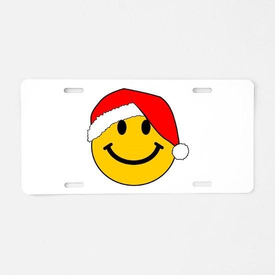 Christmas Santa Smiley Aluminum License Plate