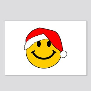 Christmas Santa Smiley Postcards (Package of 8)