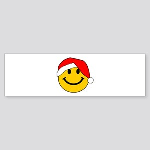 Christmas Santa Smiley Bumper Sticker