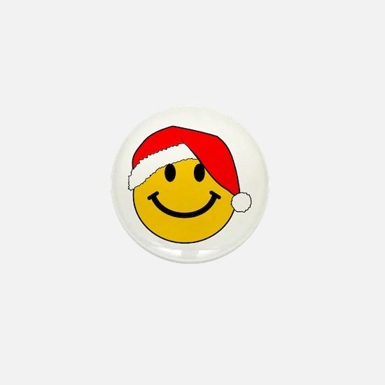 Christmas Santa Smiley Mini Button