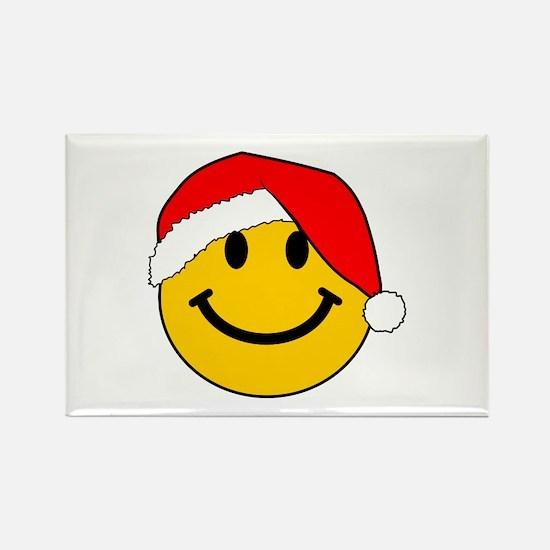 Christmas Santa Smiley Rectangle Magnet