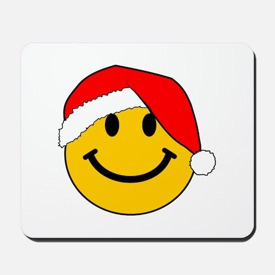 Christmas Santa Smiley Mousepad