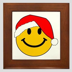 Christmas Santa Smiley Framed Tile