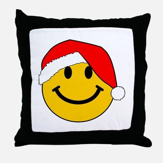 Christmas Santa Smiley Throw Pillow