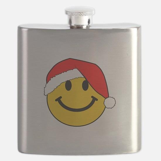 Christmas Santa Smiley Flask