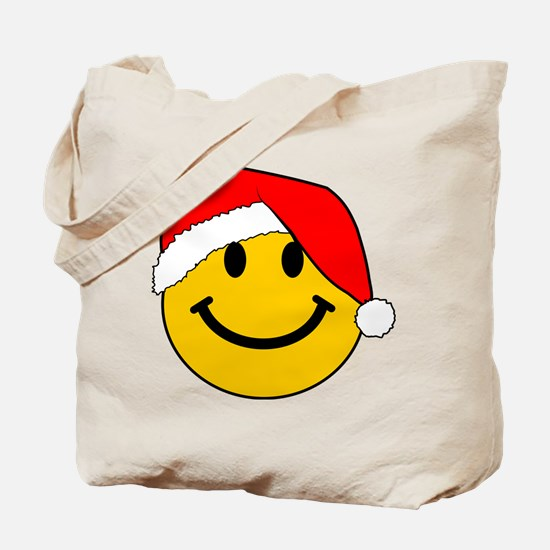 Christmas Santa Smiley Tote Bag
