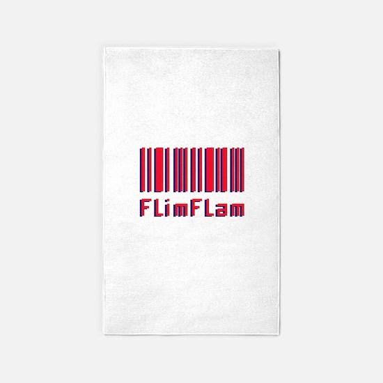 Flim Flam Barcode 3'x5' Area Rug