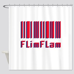 Flim Flam Barcode Shower Curtain