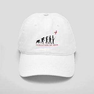 evolution of man with model plane Baseball Cap