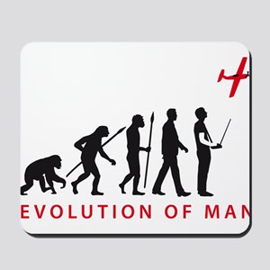 evolution of man with model plane Mousepad
