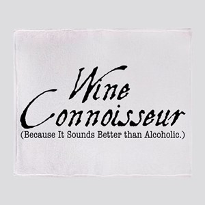 wine connoisseur Throw Blanket