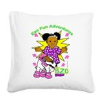 Ezo Fun Adventures Square Canvas Pillow