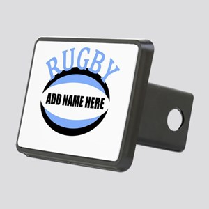 Rugby Add Name Light Blue Rectangular Hitch Cover