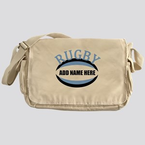Rugby Add Name Light Blue Messenger Bag