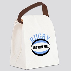 Rugby Add Name Light Blue Canvas Lunch Bag