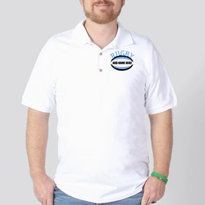 Rugby Add Name Light Blue Golf Shirt