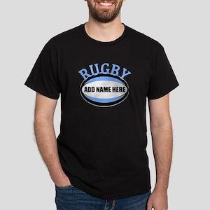 Rugby Add Name Light Blue Dark T-Shirt