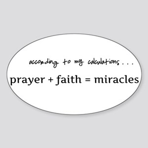 Formula for miracles - DARK TEXT Sticker (Oval 10