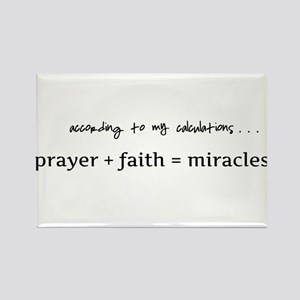 Formula for miracles - DARK TEXT Rectangle Magnet