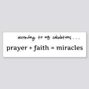 Formula for miracles - DARK TEXT Sticker (Bumper)