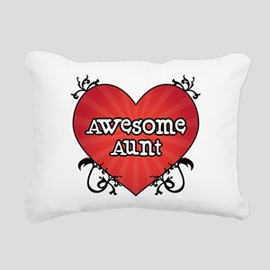 Tattoo Heart Awesome Aunt Rectangular Canvas Pillo