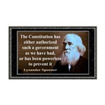 Lysander Spooner quote 35x21 Wall Decal