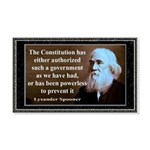Lysander Spooner quote 20x12 Wall Decal