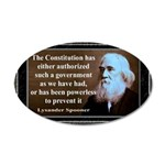 Lysander Spooner quote 20x12 Oval Wall Decal