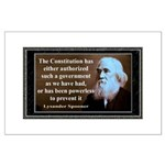 Lysander Spooner quote Large Poster
