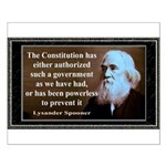 Lysander Spooner quote Small Poster