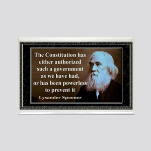 Lysander Spooner quote Rectangle Magnet