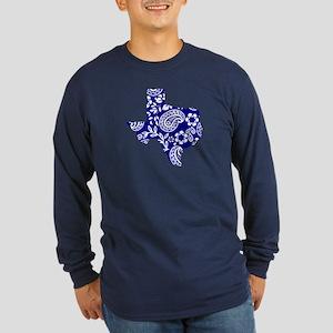Paisley Long Sleeve Dark T-Shirt