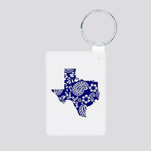 Paisley Aluminum Photo Keychain