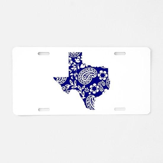 Paisley Aluminum License Plate