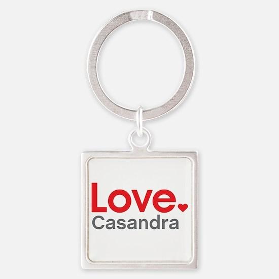 Love Casandra Square Keychain