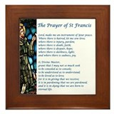Prayer of st francis Framed Tiles