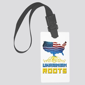 American Ukrainian Roots Luggage Tag