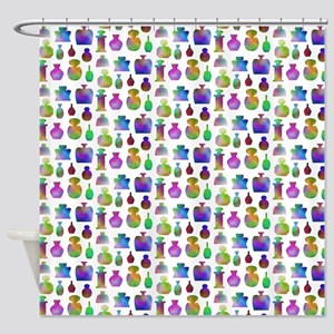 Colorful Bottle Pattern. Shower Curtain