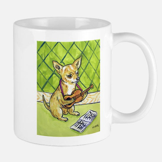Chihuahua Playing Guitar Mug