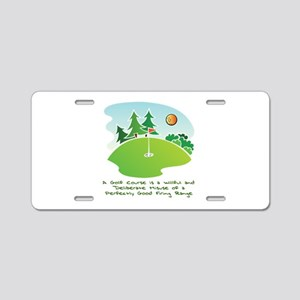 The Golf Course Aluminum License Plate